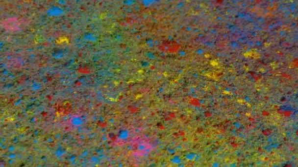 Prášková barva pokrývá podlahu