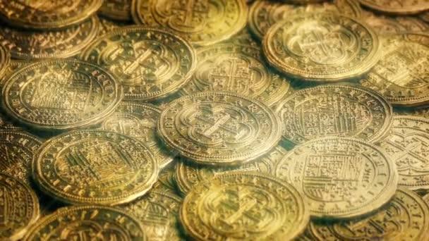 magisch funkelnde Goldmünzen