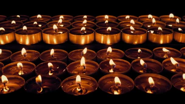 Passing Rows Of Candles In Church