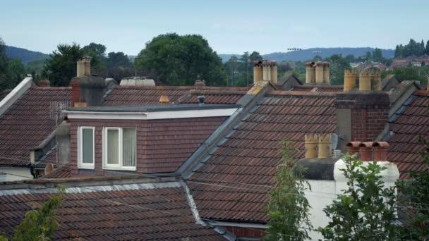 Střechy domu se stromy v Breeze