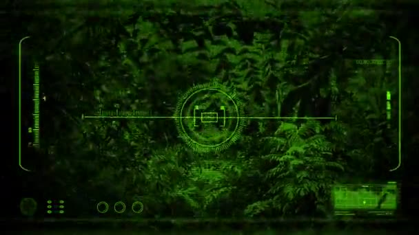 Night Vision Moving Through The Jungle