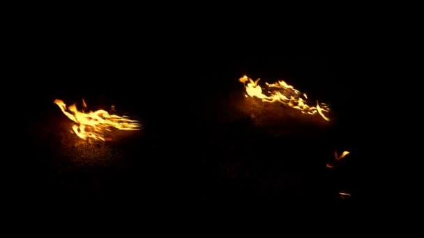 Flaming Debris On Ground - Compositing Element