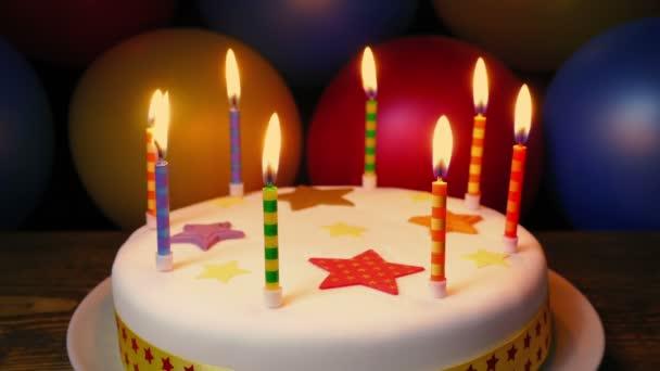 Svíčky na narozeninové dorty s barevným balónky