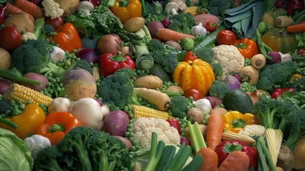 Smíšená zelenina skládačka-zdravý koncept