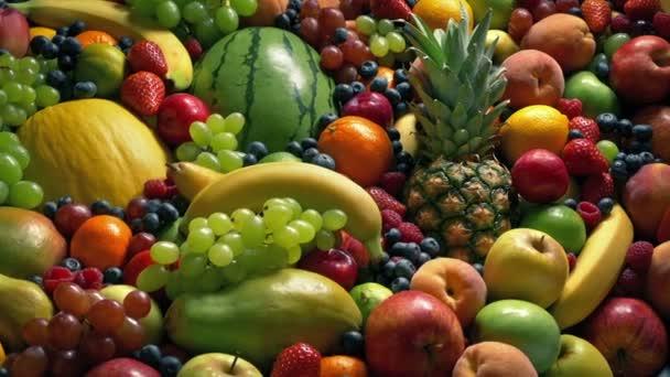 Érett gyümölcsök kijelző mozgó shot