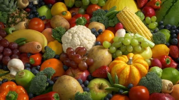 hodně ovoce a zeleniny