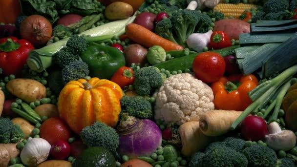Glistening Wet Vegetables In Massive Spread