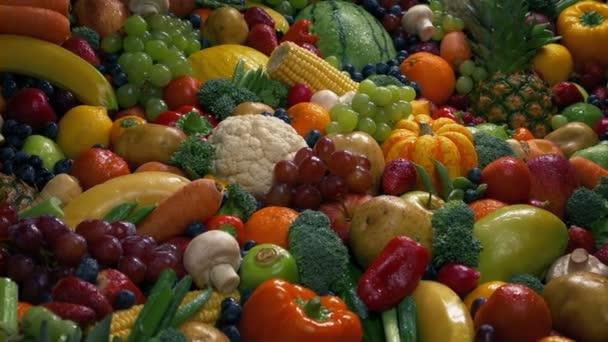 Egészséges táplálkozás gyümölcsök és zöldségek halom
