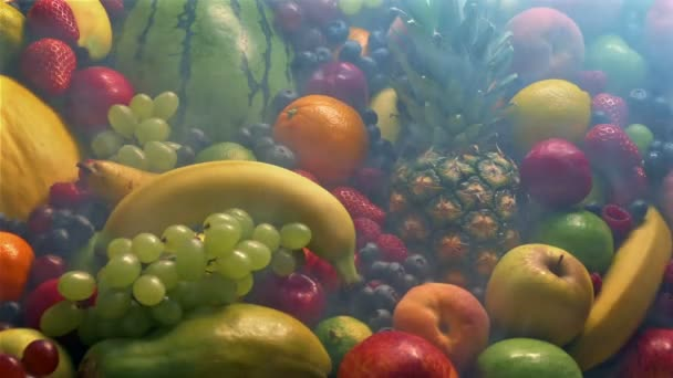 Chilled Fruits Display In Cold Vapor