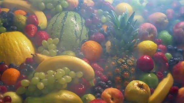 Átadás gyümölcsök keveréke hűtött vapor