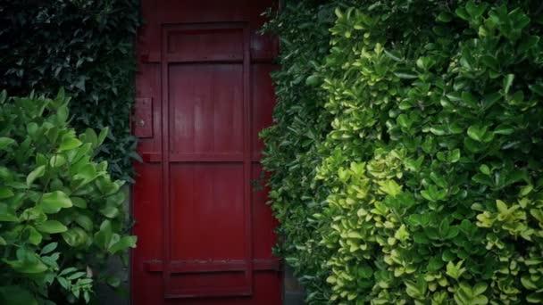Passing Red Garden Door