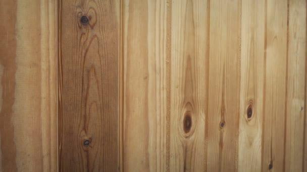 Projetí dřevěných panelů closeup