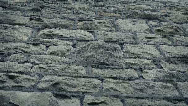 Kamenná zeď nízký úhel pohyblivá střela