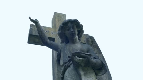 Grave with Angel Figure Moving Shot