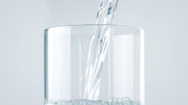Čistá voda Použitá do skla Closeup