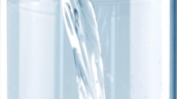 Water Fills Up Glass Macro Shot