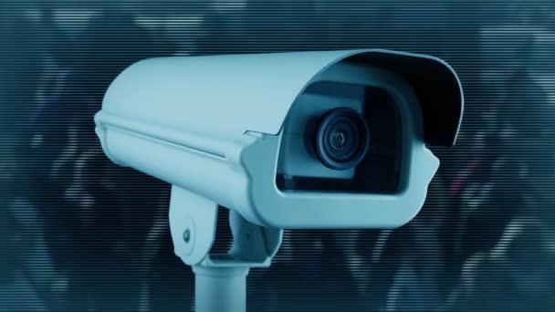Kamera sleduje bezpečnostní koncepci davu
