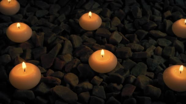 Passing Candles On Rocks At Spa