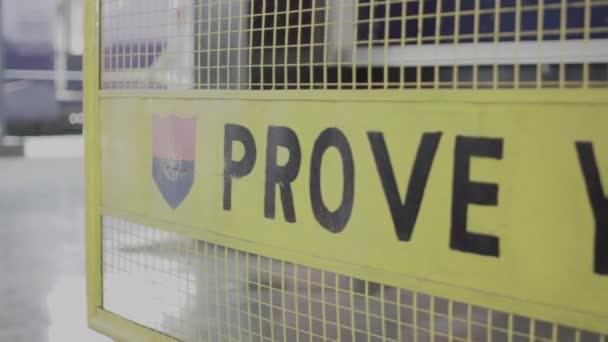 Prove your identity board.