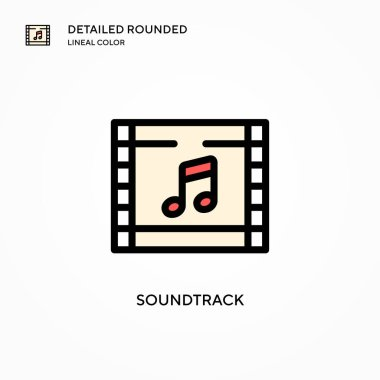Soundtrack vector icon. Modern vector illustration concepts. Easy to edit and customize.