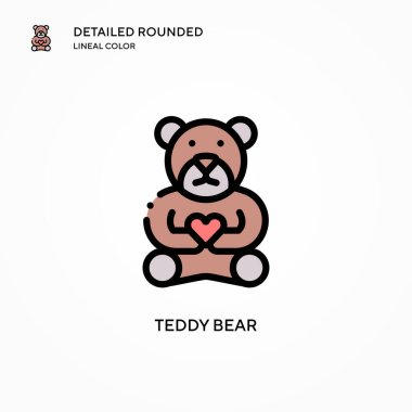 Teddy bear vector icon. Modern vector illustration concepts. Easy to edit and customize.