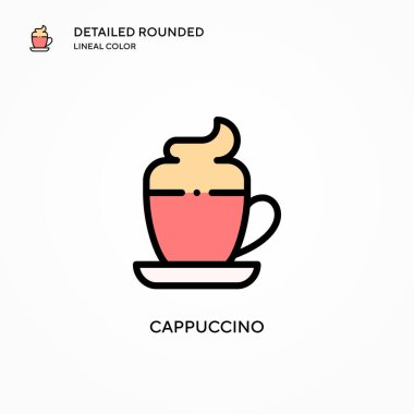 Cappuccino vector icon. Modern vector illustration concepts. Easy to edit and customize.