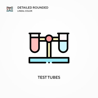Test tubes vector icon. Modern vector illustration concepts. Easy to edit and customize.
