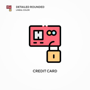 Credit card vector icon. Modern vector illustration concepts. Easy to edit and customize.