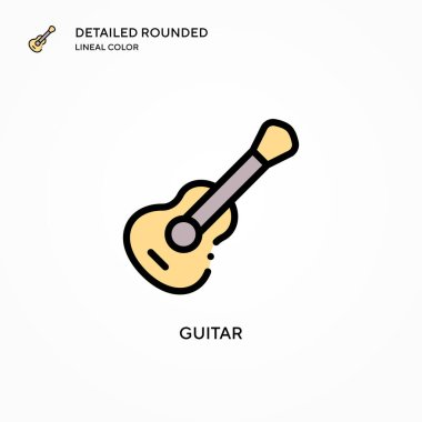 Guitar vector icon. Modern vector illustration concepts. Easy to edit and customize.