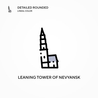 Leaning tower of nevyansk vector icon. Modern vector illustration concepts. Easy to edit and customize.