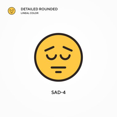 Sad-4 vector icon. Modern vector illustration concepts. Easy to edit and customize. icon
