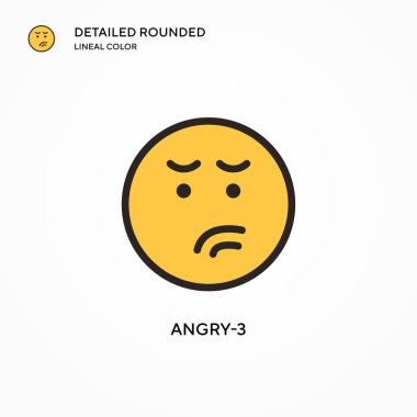 Angry-3 vector icon. Modern vector illustration concepts. Easy to edit and customize. icon