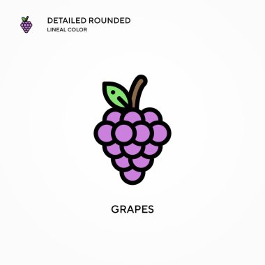 Grapes vector icon. Modern vector illustration concepts. Easy to edit and customize.