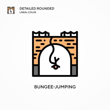 Bungee-jumping vector icon. Modern vector illustration concepts. Easy to edit and customize.