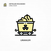 Uranium vector icon. Modern vector illustration concepts. Easy to edit and customize.