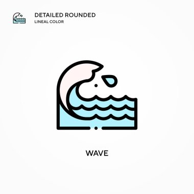 Wave vector icon. Modern vector illustration concepts. Easy to edit and customize.