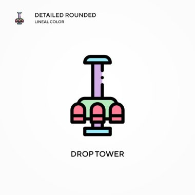 Drop tower vector icon. Modern vector illustration concepts. Easy to edit and customize.