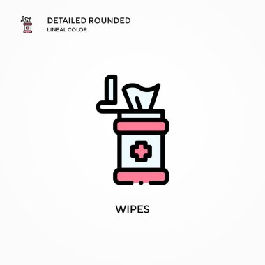 Wipes vector icon. Modern vector illustration concepts. Easy to edit and customize. icon