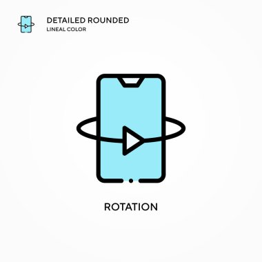 Rotation vector icon. Modern vector illustration concepts. Easy to edit and customize.