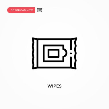 Wipes vector icon. Modern, simple flat vector illustration for web site or mobile app icon