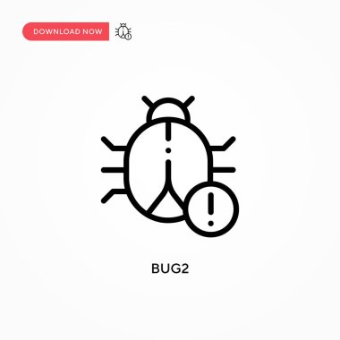 Bug2 vector icon. Modern, simple flat vector illustration for web site or mobile app