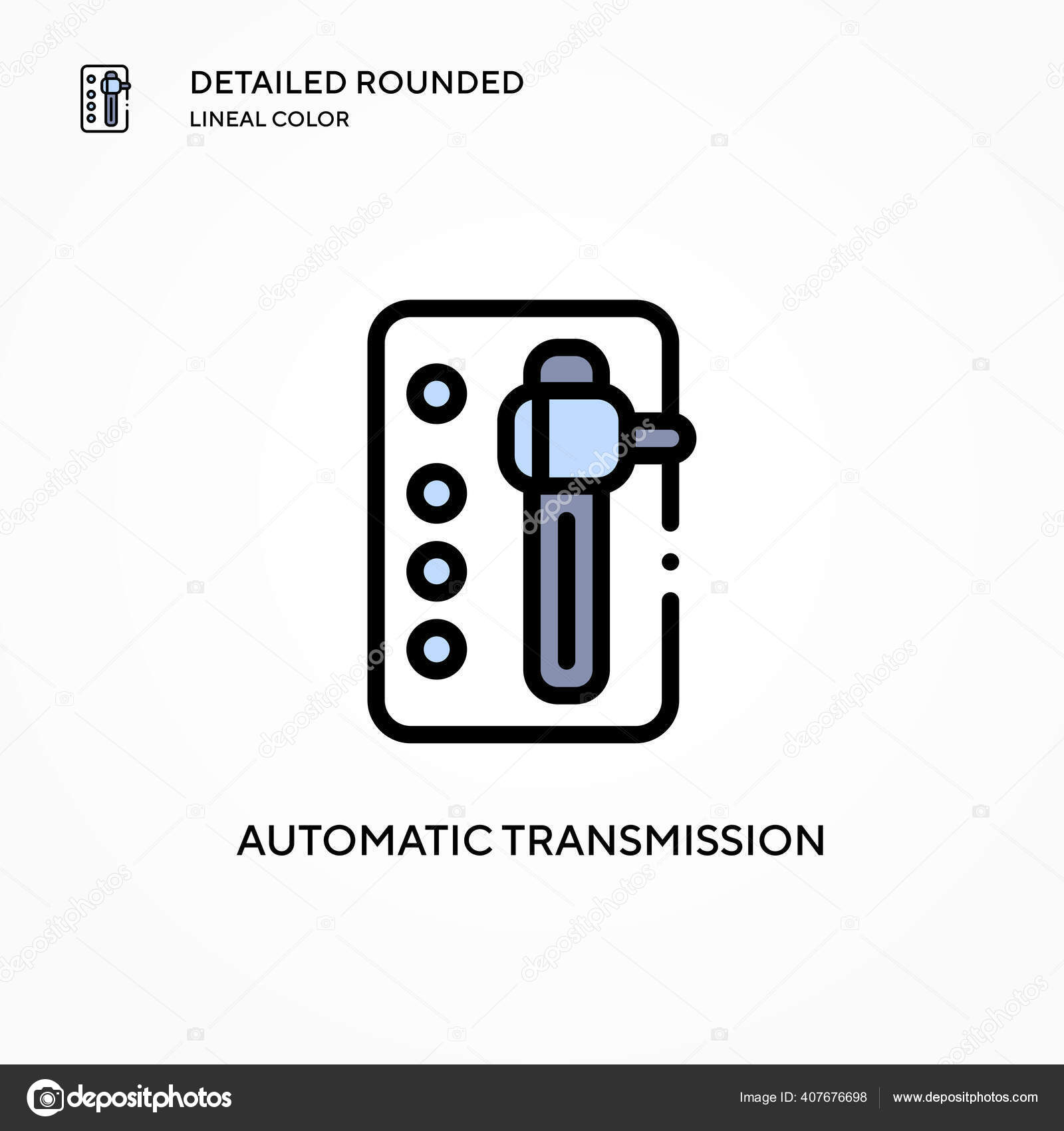Automatic Transmission Vector Icon Modern Vector Illustration Concepts Easy Edit Stock Vector C Edifier 407676698