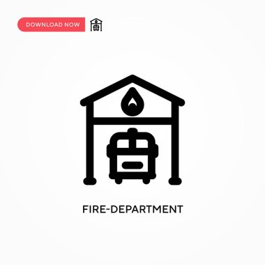 Fire-department Simple vector icon. Modern, simple flat vector illustration for web site or mobile app icon