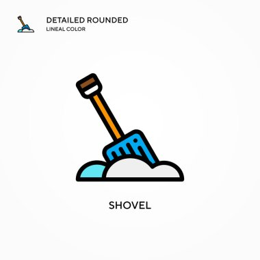 Shovel vector icon. Modern vector illustration concepts. Easy to edit and customize.