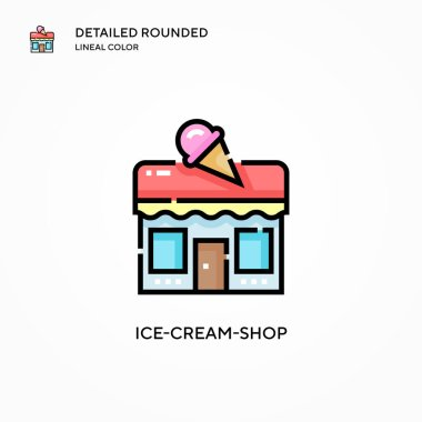 Ice-cream-shop vector icon. Modern vector illustration concepts. Easy to edit and customize.