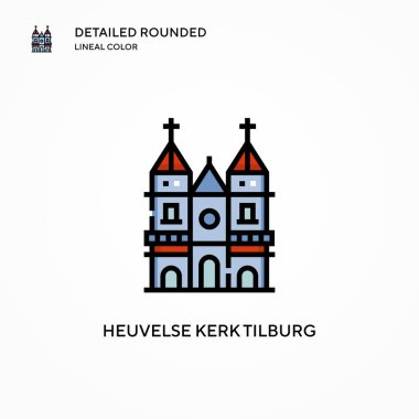 Heuvelse kerk tilburg vector icon. Modern vector illustration concepts. Easy to edit and customize.