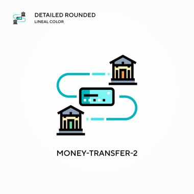 Money-transfer-2 vector icon. Modern vector illustration concepts. Easy to edit and customize.