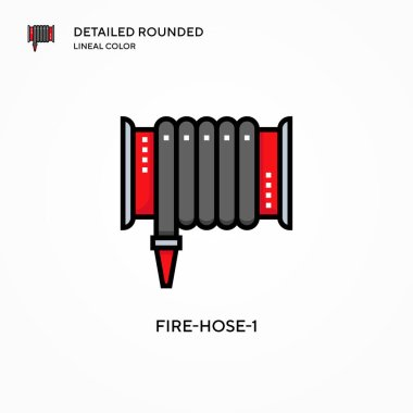 Fire-hose-1 vector icon. Modern vector illustration concepts. Easy to edit and customize. icon