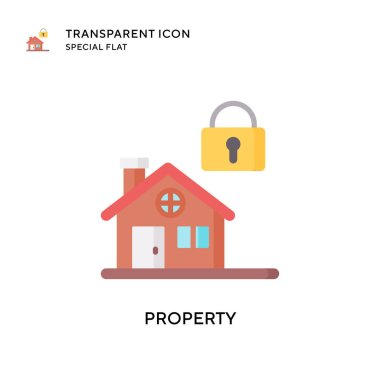 Property vector icon. Flat style illustration. EPS 10 vector.