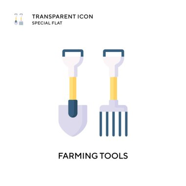 Farming tools vector icon. Flat style illustration. EPS 10 vector.